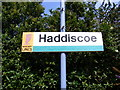 TM4598 : Haddiscoe Railway Station Sign by Adrian Cable