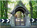 NZ2288 : Lych Gate at St.Johns Church Longhirst by Eric Rosie