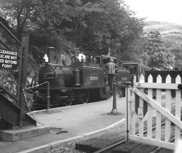 Festiniog Railway station at Tan y Bwlch