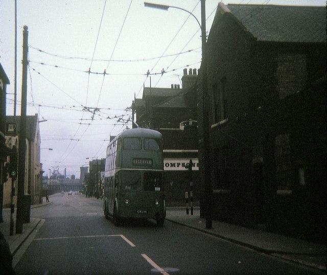 Tees-side trolleybus at Bennett's Corner