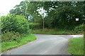 SJ5327 : Farm entrance on a sharp bend by Row17
