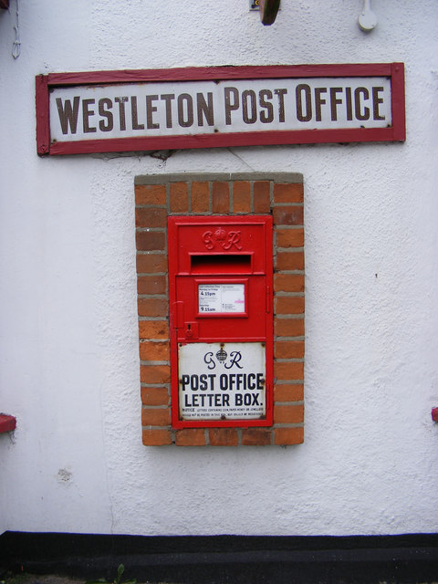 Post Office George VI  Postbox, Westleton