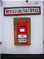 TM4469 : Post Office George VI  Postbox, Westleton by Adrian Cable