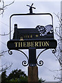 TM4365 : Theberton Village Sign by Adrian Cable