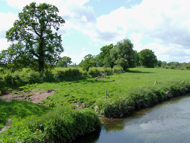 Farmland by the River Penk, near Brewood, Staffordshire