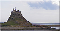 NU1341 : Lindisfarne Castle viewed from about sea level by C Michael Hogan