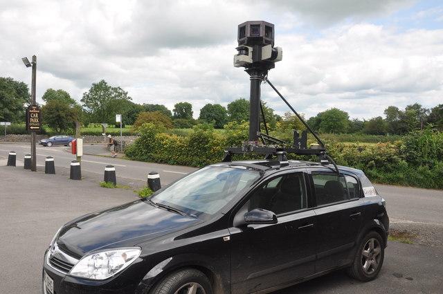 Google street view camera visits Peak District
