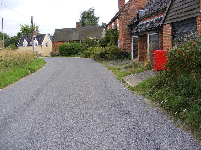 The Street, Bruisyard & Post Office Postbox