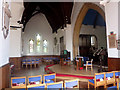 TM3135 : Inside Old Felixstowe church by Andrew Hill