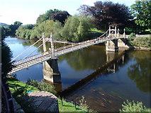 SO5139 : Victoria Bridge, Hereford by Simon Vaughan Winter