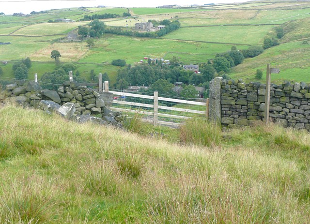 Stile onto the moor near Higher House, Mytholmroyd