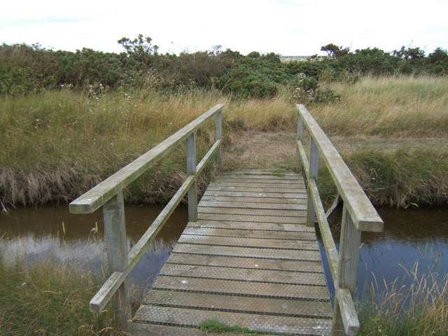 Footbridge near North Hide, Havergate Island RSPB Reserve