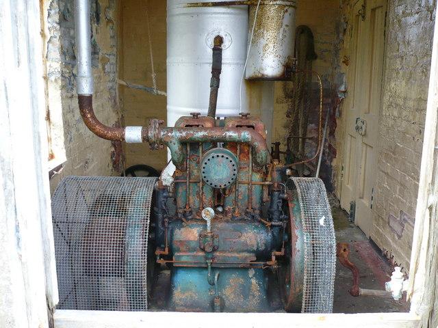 Lister diesel engine in engine house