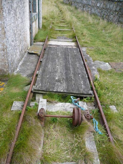 Redundant railway line on Ailsa Craig
