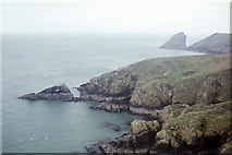 SM7308 : South-east coast of The Neck, Skomer by John Rostron
