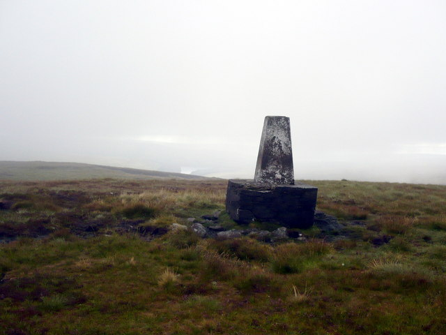 Trig point on Burnhope Seat