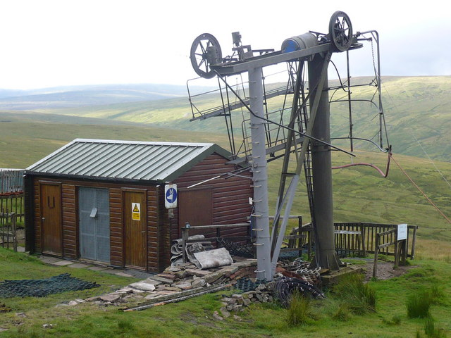 Bottom of the ski tow on Yad Moss