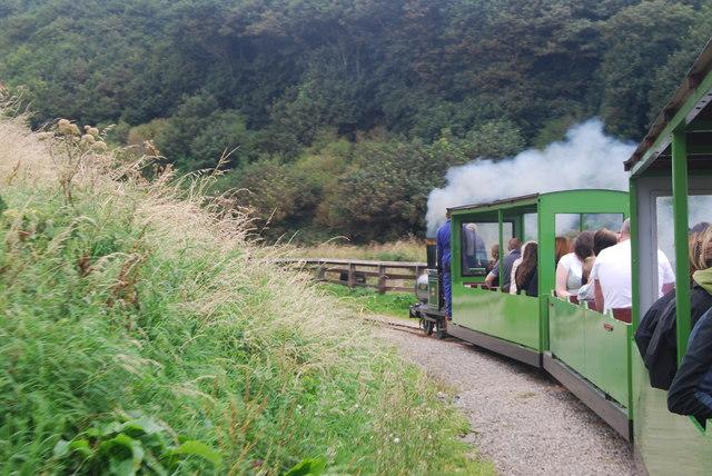 Miniature steam railway, Saltburn-by-the-Sea