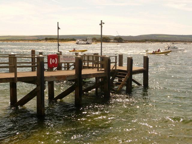Sandbanks: Brownsea ferry jetty