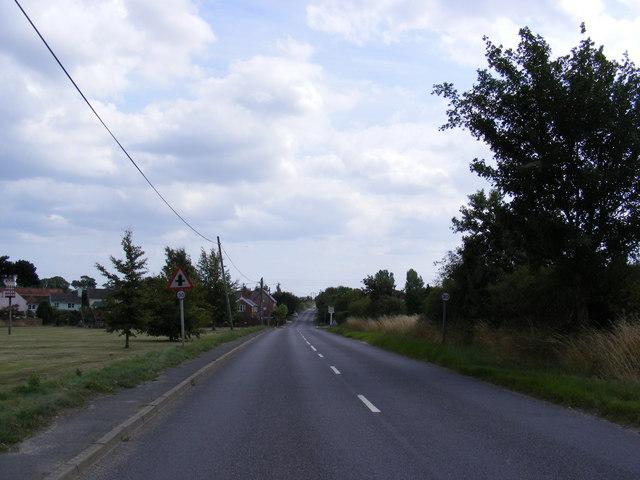B1121 Saxmundham Road, Friston