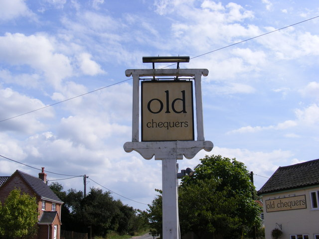 Old Chequers Public House sign