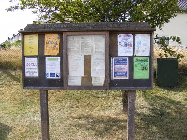 Friston Village Notice Board