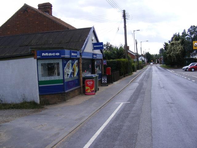 Knodishall Village Store, B1069 Snape Rd & Coldfair Green Postbox