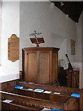 TM3959 : The Pulpit of St.John the Baptist Church, Snape by Geographer