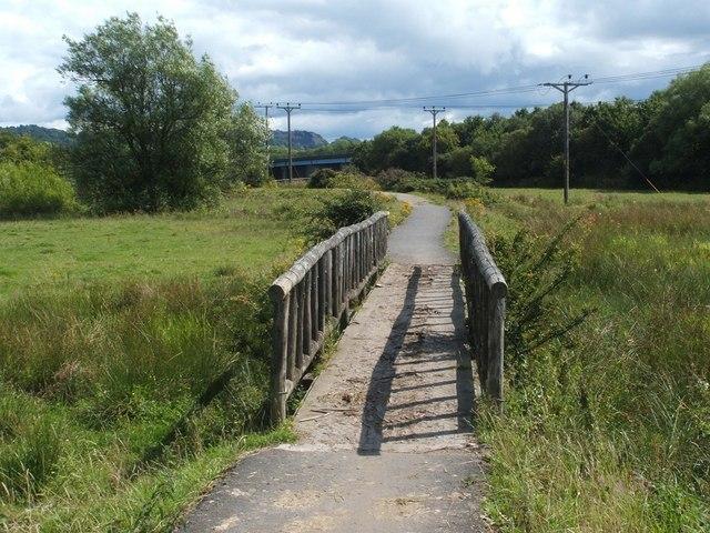 Footbridge on Cycle Route