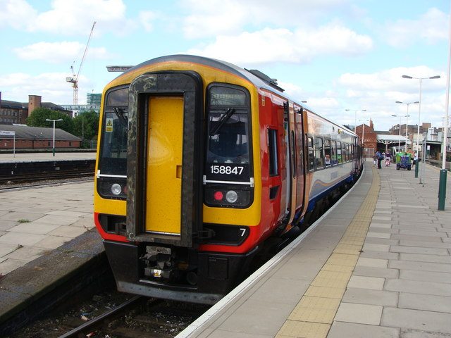 The Skegness train at Nottingham railway station