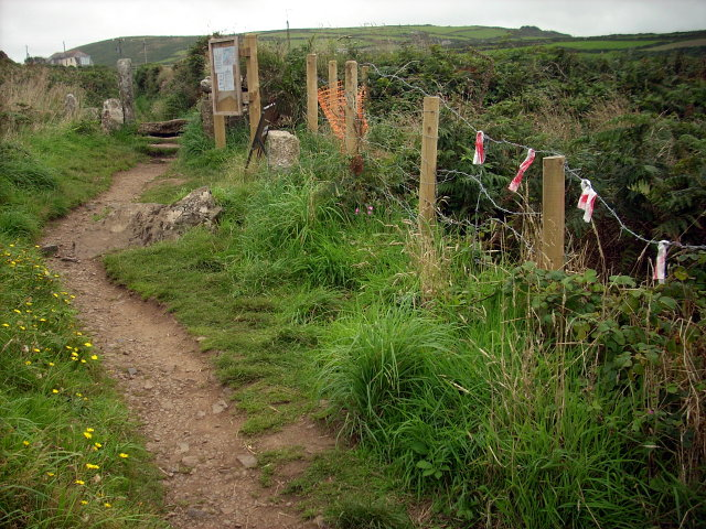 Coast path temporarily closed near Zennor Head