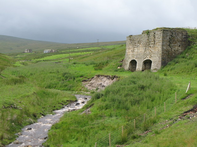 Slag Hill Lime Kiln above Middlehope Burn