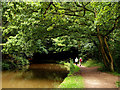 SJ4133 : Walkers beside the Llangollen Canal by Andy Beecroft