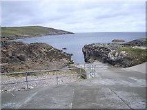 NB5534 : Seisadar harbour - slipway by Nicholas Mutton