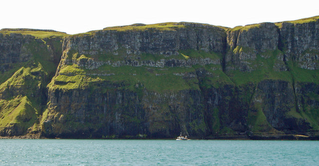 Cliffs on the north side of Canna