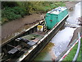 SJ6542 : Old lock gates in beached barge by Bob Dodds