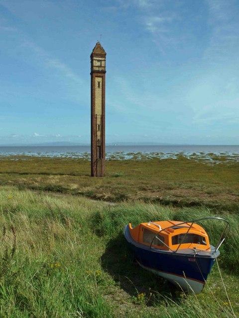 Rampside lighthouse (Walney channel middle range rear)