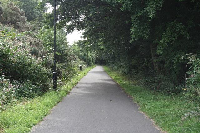 Cycleway near Halton