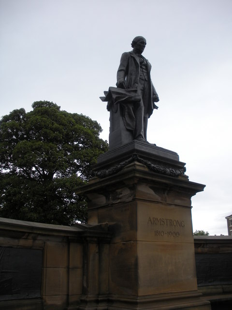 Statue of Lord Armstrong, outside Hancock museum