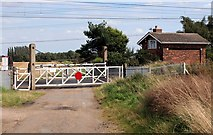 SK7867 : Grassthorpe crossing gates on the ECML by roger geach