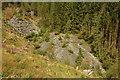 SH7912 : Former quarry, Dyfi Forest by Philip Halling