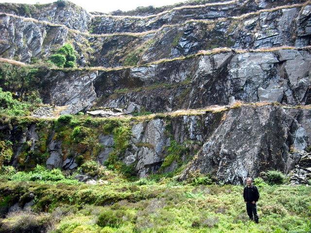 Levels at Rosebush quarry