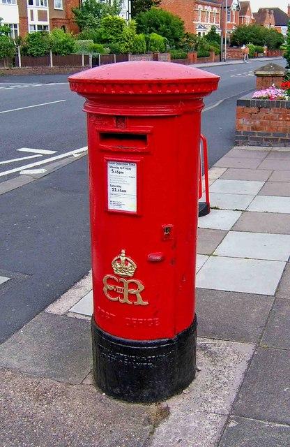 Edward VIII post box, Ombersley Road, Worcester
