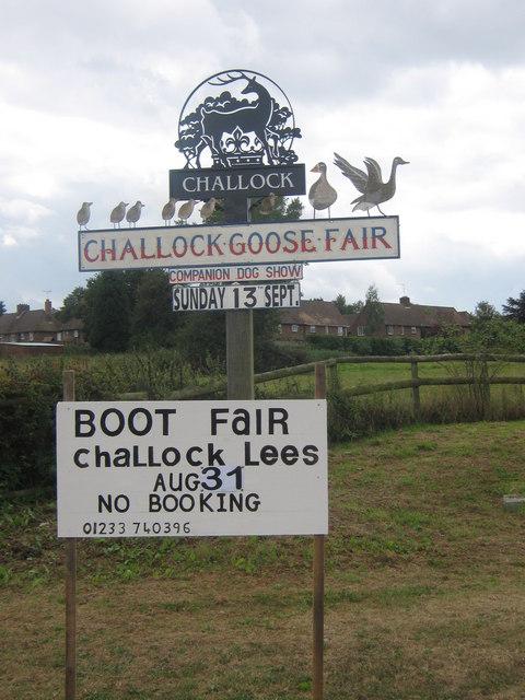 Challock Village Sign