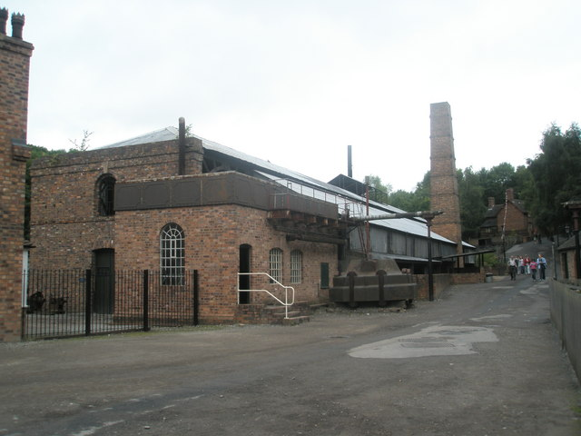 Looking past the ironworks at Blist Hill Open Air Museum