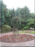 SJ6903 : Small park within Blists Hill Open Air Museum by Basher Eyre