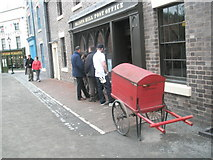 SJ6903 : Cart outside the post office at Blists Hill Open Air Museum by Basher Eyre