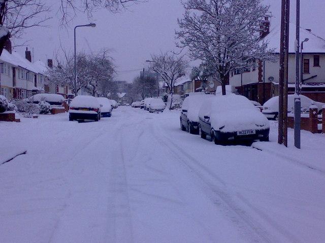 Snow on Middleton Gardens #2