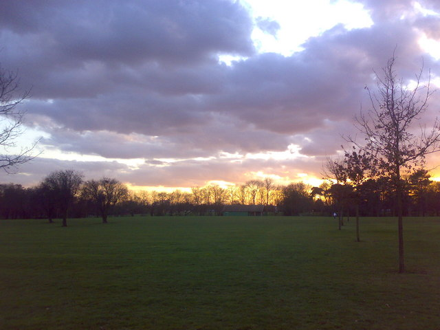 Sunset over Valentines Park