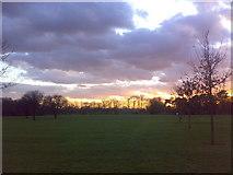 TQ4387 : Sunset over Valentines Park by Yusuf Gitay
